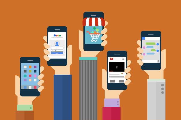 mobile shopping illo