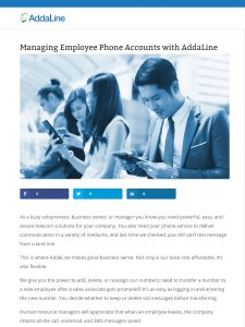 SCREENSHOT OF BLOG ARTICLE MANAGING EMPLOYEE PHONE ACCESS