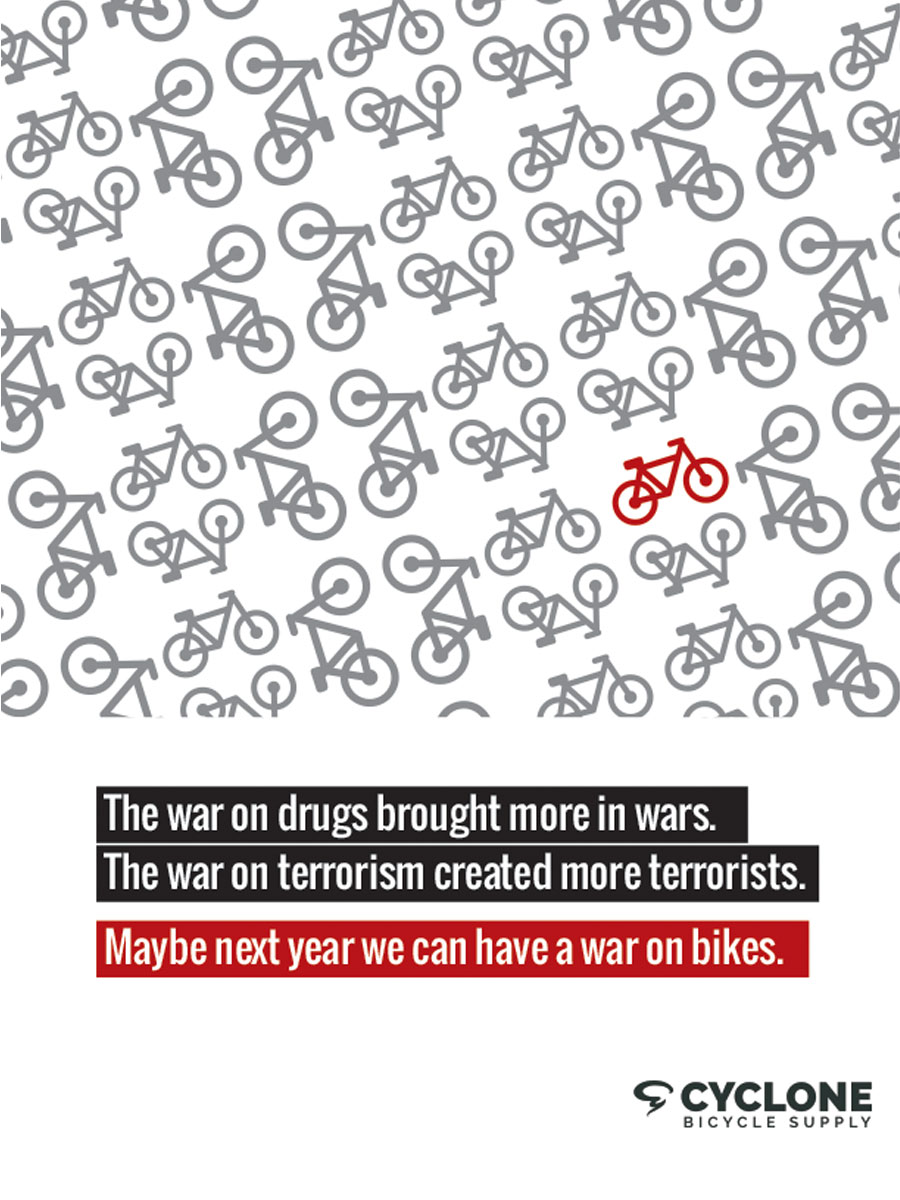 advertisement for more bikes
