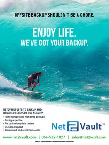 IMAGE OF MAGAZINE AD FOR NET2VAULT