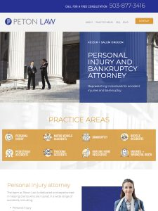 SCREENSHOT OF PETON LAW WEBSITE