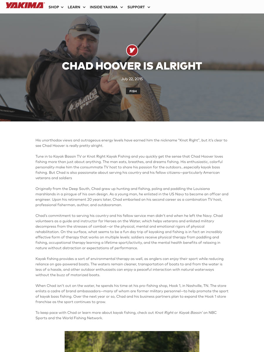 SCREENSHOT OF ARTICLE ABOUT CHAD HOOVER BY Üma KLEPPINGER